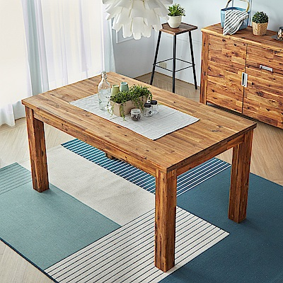 H&D 奧瑞鄉村系列實木5尺餐桌 (寬150X深90.3X高77cm)
