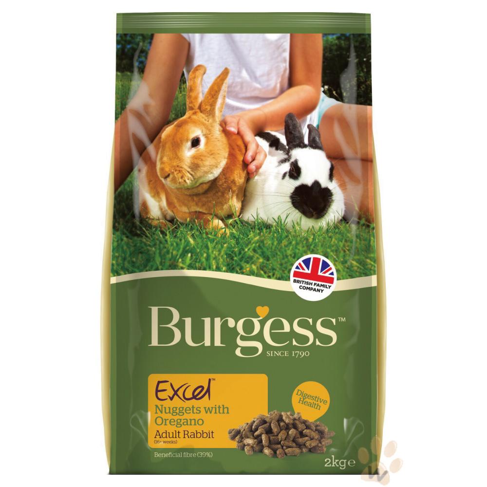 Burgess伯爵高機能兔飼料-成兔奧勒岡葉2kg 2入