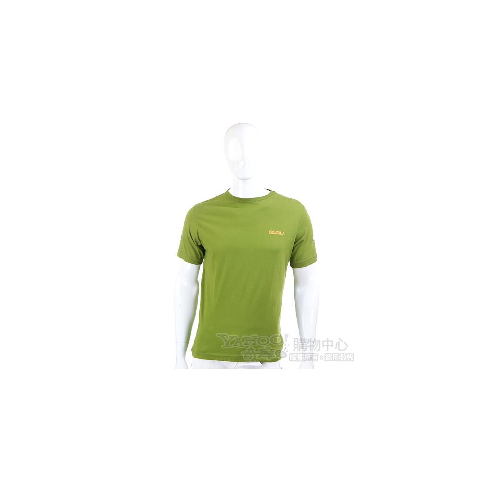 GURU 草綠色小花短袖T恤