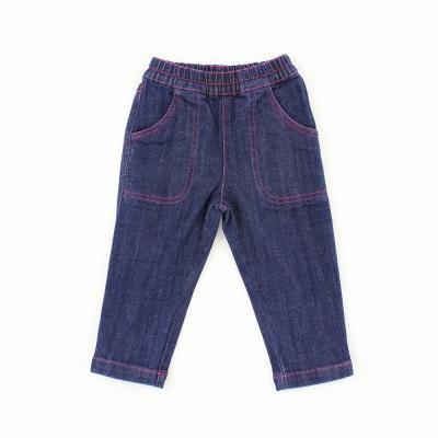 愛的世界 MYBEAR 寬口袋休閒鬆緊帶牛仔褲/1~4歲
