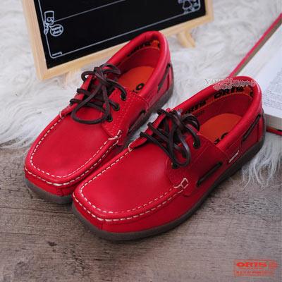 ORIS 《女》吸盤大底帆船鞋款~紅