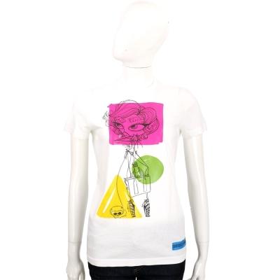 DSQUARED2 大眼女孩幾何圖形設計短袖T恤