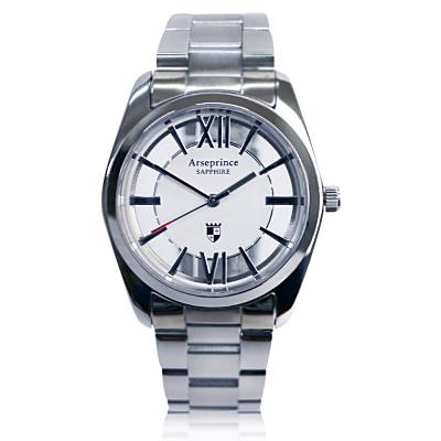 Arseprince 羅馬假期雙面鏤空 中性錶~白銀 35mm