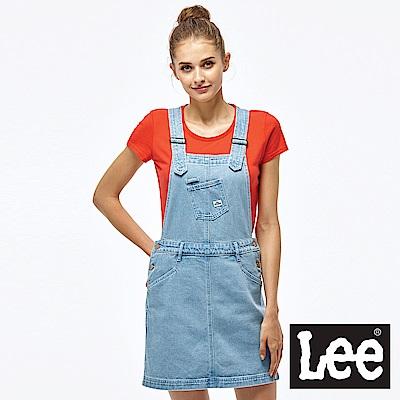 Lee 牛仔吊帶裙-女款-淺藍