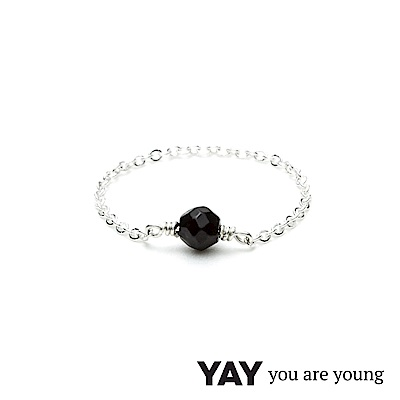 YAY You Are Young 法國品牌 Stella 黑曜石鍊戒 925純銀