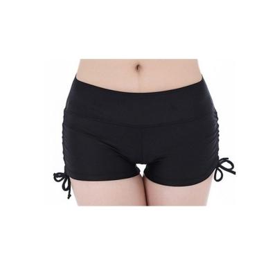 Biki比基尼妮泳衣   側繫帶泳褲平角泳褲防走光女泳褲有加大(單泳褲)