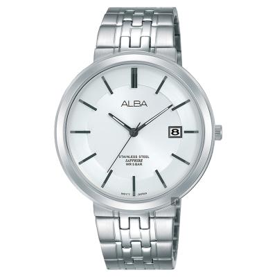 ALBA雅柏 都會時尚手錶(AS9D83X1)-銀/40mm