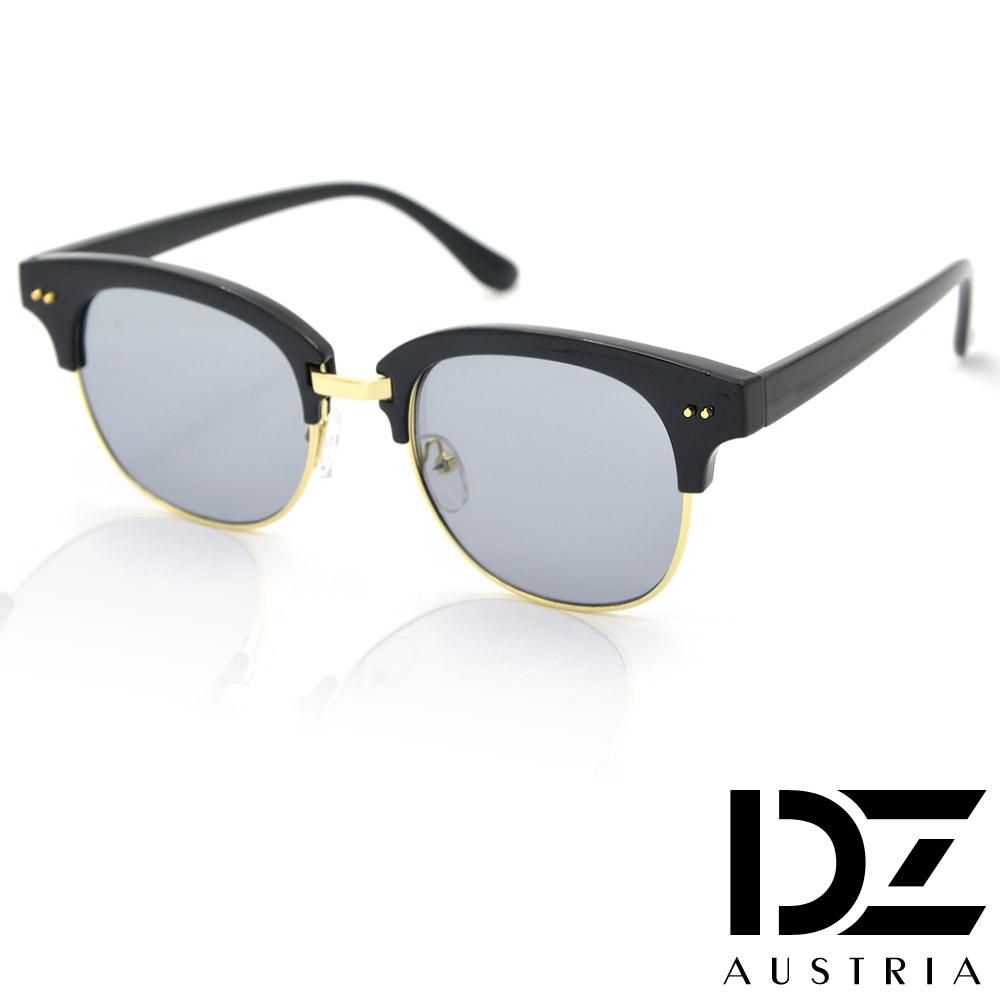 DZ 戲謔半黑框 彩膜眼鏡平光鏡(灰色鏡片)