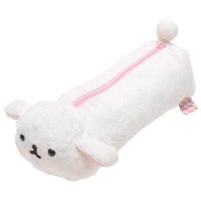麻糬兔兔子朋友系列毛絨筆袋包。白大福