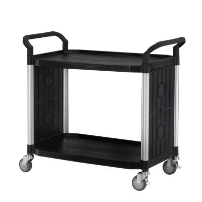 100%台灣製 大台面多功能二層圍邊工具餐車/手推車/置物架-經典黑