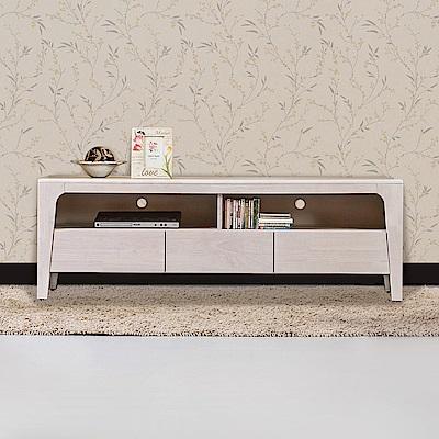 Bernice-森克5.1尺全實木電視櫃/長櫃(洗白色)-152x45x51cm