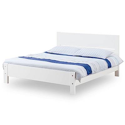 時尚屋 托德松木烤白5尺雙人床架(不含床頭櫃-床墊)