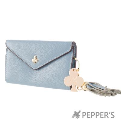 PEPPER-S-天馬包-牛皮桃樂絲鑰匙包-天空藍