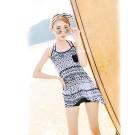 Biki比基尼妮-黑白樂系三件式泳衣(M-XL)