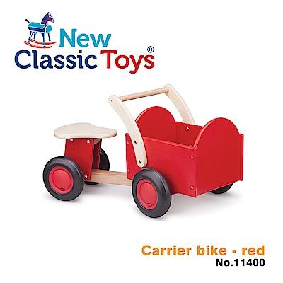 荷蘭New Classic Toys 經典木製置物滑步車 - 活力紅 - 11400