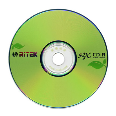 RiTEK錸德 環保綠葉 CD-R 52X 燒錄片/光碟片 (600入裸裝)