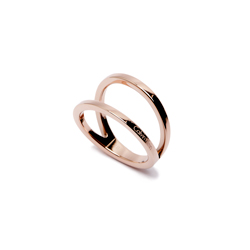 CK Calvin Klein 翩然起舞在指尖的戒指-玫瑰金色