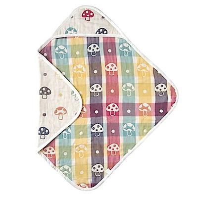 日本 Hoppetta 六層紗蘑菇方型包巾