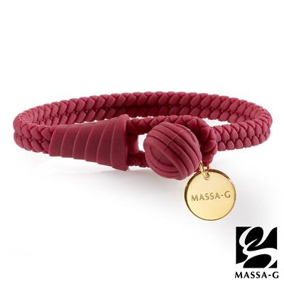 MASSA-G 【絕色典藏】負離子健康能量手環/腳環-珊瑚紅