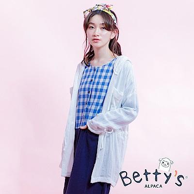 betty's貝蒂思 腰間抽繩連帽襯衫(白色)