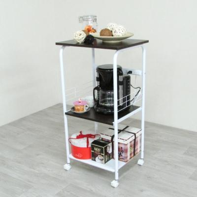 Amos-超實用三層附插座電器架/廚房架