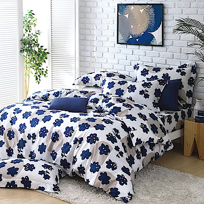 Cozy inn 點子 加大四件組 200織精梳棉薄被套床包組