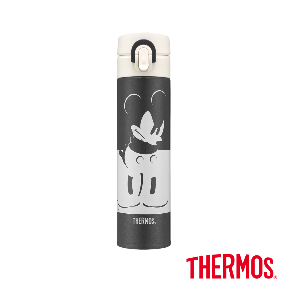 雅虎獨家首殺膳魔師經典米奇限量金屬灰超輕量不鏽鋼真空保溫瓶0.4L