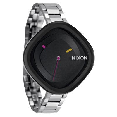 NIXON The Zona 幾何線條俐落之美腕錶-黑/41mm