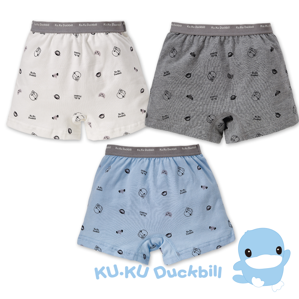 KU.KU酷咕鴨 嗶嗶猴男童四角內褲(3入組)(2763)
