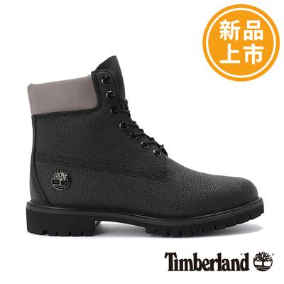 Timberland-男款黑色防水保暖6吋靴