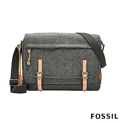 FOSSIL DEFENDER 信差商務側背包-灰色