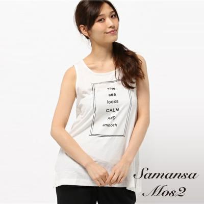 SM2 LOGO字母框壓印ALINE剪裁背心上衣-F1166C50003