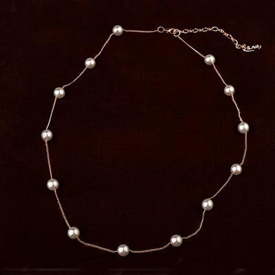 iSFairytale伊飾童話 珍珠繞頸 優雅鎖骨鍊