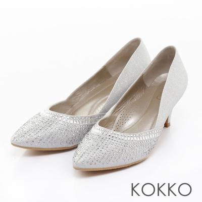 KOKKO手工婚鞋尖頭浪漫煙火鑽飾高跟鞋