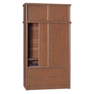 品家居 賈伯斯4尺雙抽推門衣櫃(五色可選)-120x60x222cm-免組