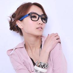 Aimee Toff 普普風原色設計師款膠框眼鏡(藍)