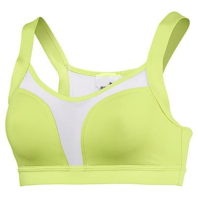 PUMA-女性訓練系列Curl低衝擊運動內衣-陽光綠-歐規