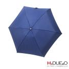 義大利H.DUE.O紳士抗UV五折手開傘-藍格紋