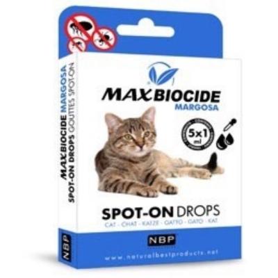 西班牙NBP新型苦楝精油 跳蚤滴劑5劑入 貓用 (兩入組)