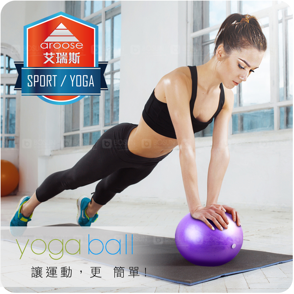 aroose 艾瑞斯 - 25cm 瑜珈韻律健身平衡球- 2入組(紫色)