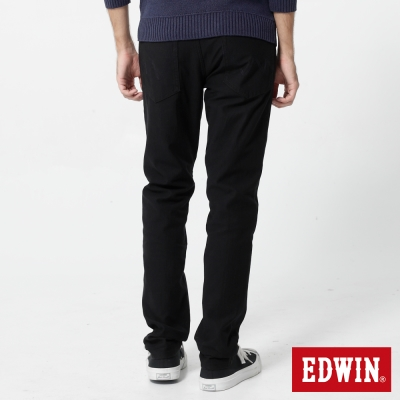 EDWIN 大尺碼迦績褲JERSEYS織帶AB褲-男-黑色