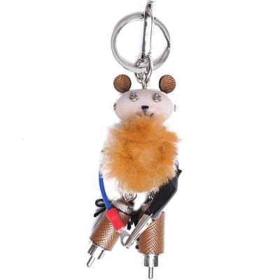PRADA 可愛小熊造型吊飾鑰匙圈(咖啡色系)