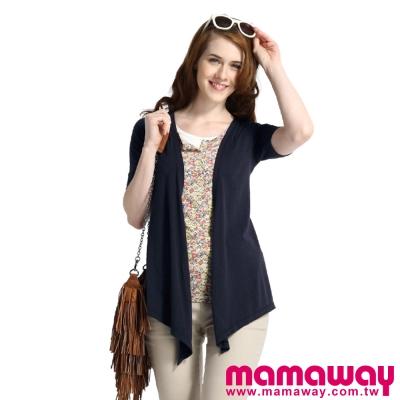 Mamaway-假三件碎花孕婦裝-哺乳衣-共二色