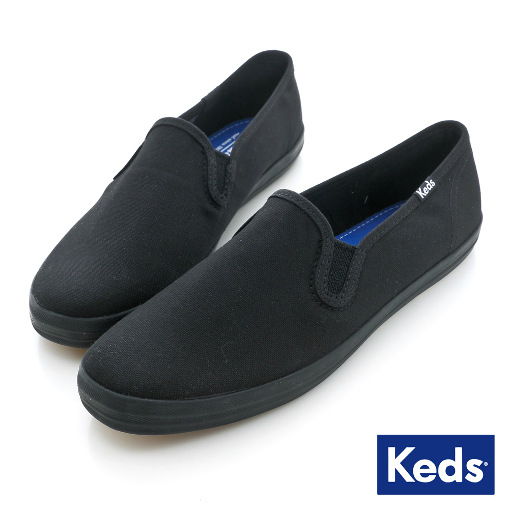 Keds 品牌經典休閒便鞋-全黑