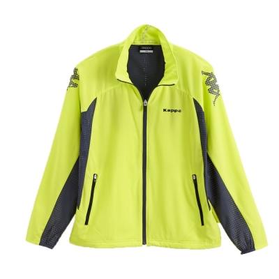 KAPPA義大利(童)吸濕排汗速乾KOOL DRY單層 3M防污風衣(岩草綠/深灰)