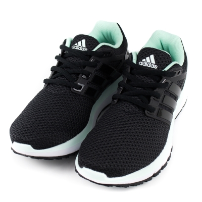 ADIDAS-女慢跑鞋BA7529-黑綠