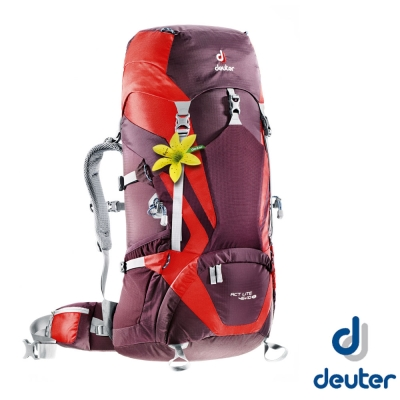 【德國 Deuter 】ACT Lite 45+10SL 輕量拔熱式透氣背包_紫/紅