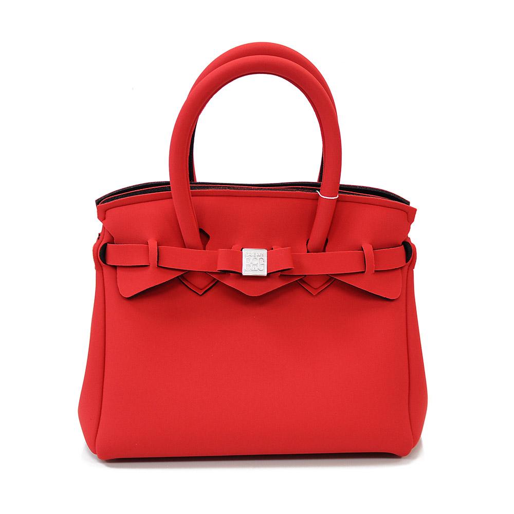SAVE MY BAG 義大利品牌 PETITE系列 亮紅超輕量手提托特包