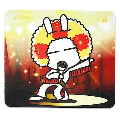 i2艾思奎兔斯基滑鼠墊--搖滾的我