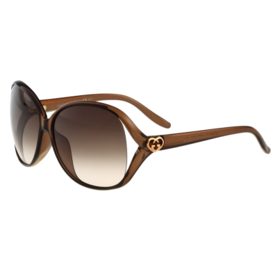 GUCCI-時尚太陽眼鏡(透明棕)